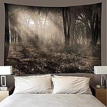 shuimanjinshan Tapestry Beach Throw Dark forest