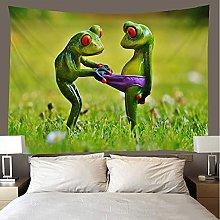 shuimanjinshan Tapestry Beach Throw Funny frog