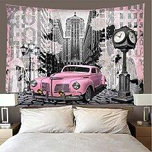 shuimanjinshan Tapestry Beach Throw Pink car Wall