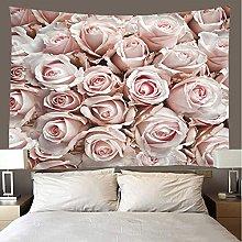 shuimanjinshan Tapestry Beach Throw Pink Rose Wall