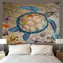 shuimanjinshan Tapestry Beach Throw Sea turtle
