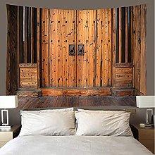 shuimanjinshan Tapestry Beach Throw Wooden door