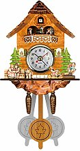 Shumo Antique Wooden Cuckoo Wall Clock Bird Time
