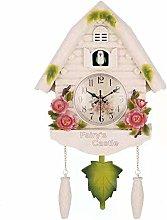 Shumo Cute Bird Wall Clock Cuckoo Alarm Clock