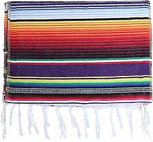 Shumo Pack Of 6 14 X 84 Mexican Serape Table