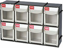 "SHUTER 8 Drawers Storage Box, 12"" Tip Out Bin"