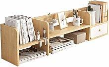 SHUTING2020 Display Rack Bookshelf with 1 Drawer