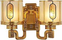 SHUTING2020 Wall lamp Wall Lamp Copper New Chinese