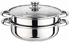 SHUUY Double-Layer Stainless Steel Soup Steamer,