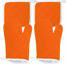 ShyaWorld Kitchen Oven Mitts Pack Heat Resistant