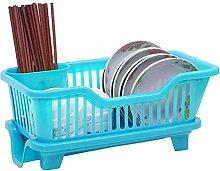 SHYOD Blue Drain Rack, Kitchen Sink Dish Drying
