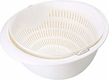 SHYOD Double Drain Basket Bowl Rice Washing