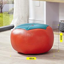 SHYPwM Cartoon Small Leather Stool Change Shoes