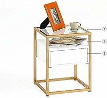 SHYPwM Living Room Small Coffee Table Corner Table