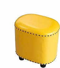 SHYPwM Sofa Stool Leather Footstool Lazy
