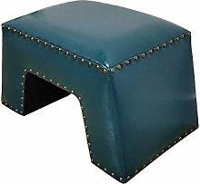 SHYPwM Sofa Stool Leather Pier Lazy Stool Living