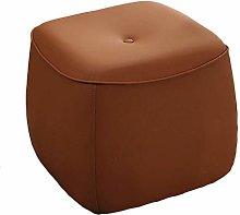 SHYPwM Sofa Stool Leather Stool Multifunction Mini