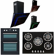 SIA 60cm Black Built In Double Electric Oven, 70cm