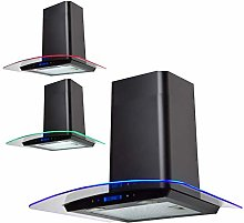 SIA 60cm Black Touch Control LED Edge Lit Curved