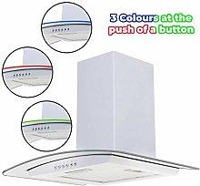SIA CPLE60WH 60cm White 3 Colour LED Edge Curved