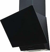 SIA EAG61BL 60cm Black Angled Glass Chimney Cooker
