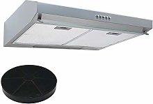 SIA STH50SI 50cm Silver Slimline Visor Cooker Hood