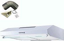 SIA STH50WH 50cm White Slimline Visor Cooker Hood