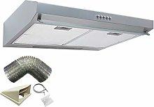 SIA VSR60SI 60cm Silver Slimline Visor Cooker Hood