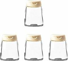 SIBUHA Spice Tins Set Round Spice Jar With Sift