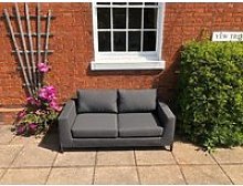Sicilie Lounge Two Seater Sofa   Anthracite Frame