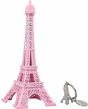 SiCoHome Eiffel Tower Cake Topper,7.0inch Pink