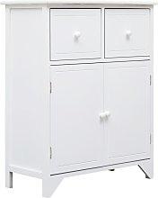 Side Cabinet 60x30x75 cm Paulownia Wood White