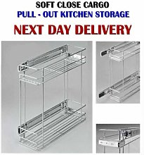 Side Mounting Pull Out Wire Cargo Basket Kitchen