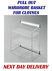 SIDE PULL OUT SHELVES WARDROBE FITTING ACCESSORIES
