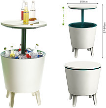 Side Table Drink Cooler Cool Bar Cocktail Table