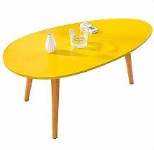 Side Table Oval Coffee Table Wood Retro Tea Table