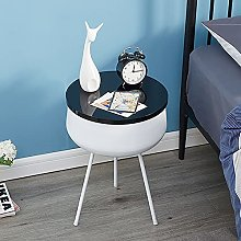 Side Table,Round Coffee Table Living Room Side