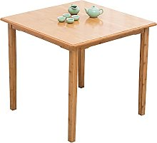 Side Table,Small Coffee Table Natural Bamboo End