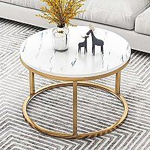Side Table,Sofa Side Snack Table with Metal Frame