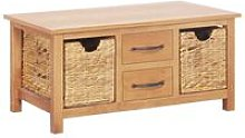Sideboard 88x53x43 cm Solid Oak Wood and Water