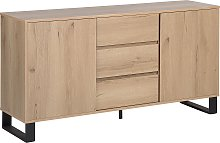 Sideboard Chest of Drawers Cabinet Metal Base