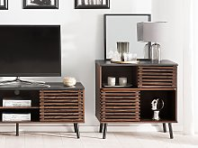 Sideboard Dark Wood Finish 80 x 40 x 80 cm Rustic