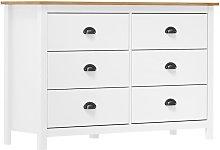 Sideboard Hill Range White 125x40x80 cm Solid Pine