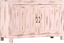 Sideboard Light Pink 110x35x70 cm Solid Mango Wood