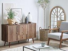 Sideboard Light Wood 2 Door 3 Drawer Cabinet