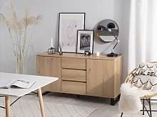 Sideboard Light Wood Chest of Drawers Cabinet