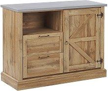 Sideboard Rustic Cottage Cabinet Storage 1 Door 2
