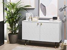 Sideboard White 2 Door Cabinet Storage Modern