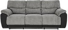 Sienna Fabric/Faux Leather 3 Seater Recliner Sofa