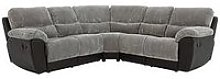 Sienna Fabric/Faux Leather Recliner Corner Group